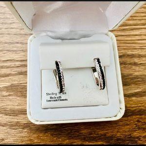 Sterling Silver Swarovski Embellished Earrings